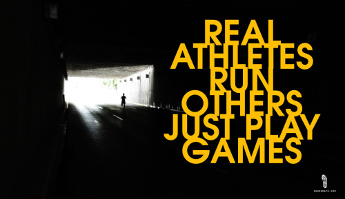 Real athletes run others just play games.