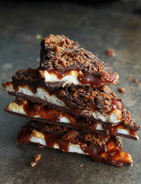 Caramel, bacon, and marshmallows, oh my! Check out this recipe for a sweet and savory treat that's sure to delight.