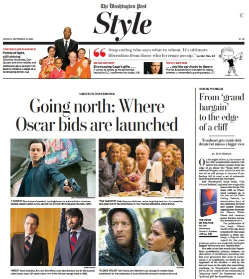 """Our film critic Ann Hornaday is at the Toronto International Film Fest. Read her dispatch about """"Argo,"""" Ben Affleck's new movie. (Everyone's already saying it's going to win best picture next year; they're right.)"""