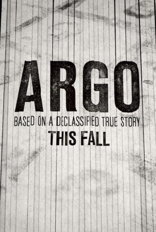 Argo's story is so outlandish that it would make a totally implausible movie plot if it didn't happen to be true. Six Americans escaped the U.S. Embassy in Tehran as it was overrun in 1979, and hid for months in the home of the Canadian ambassador. The film is about how they were rescued: the CIA created a fake film company to work on a fake science fiction film for which they faked a Canadian crew scouting potential film locations in Tehran. A dummy production company, press events, storyboards, a real script, and many other details went into building the background for this film, all designed to provide cover for taking the six Americans right out the front door, as it were. The operation remained classified until 1997.  more.