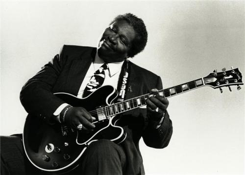 B.B. King in Los Angeles, CA 1991. Photo by Jerry de Wilde.