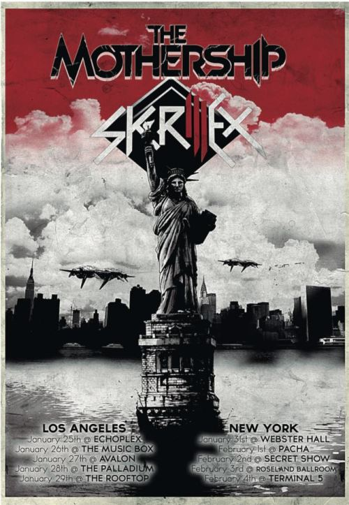 ofowsla:  Unreleased poster for Skrillex's NY and LA takeovers