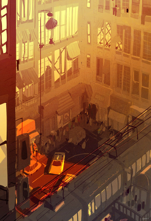 pascalcampion:  Late Summer in the city