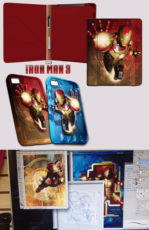 rdjnews:  Concept art for some upcoming Iron Man 3 merchandise. (Source: Marvel Freshman)