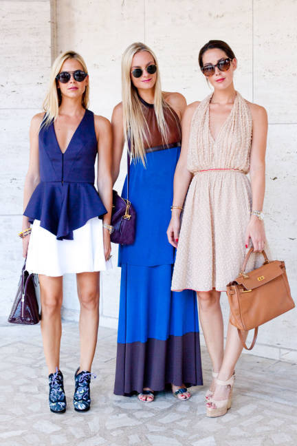 elle:  Virginie, Claire, and Prisca Courtin-Clarins More of the best dressed at NYFW