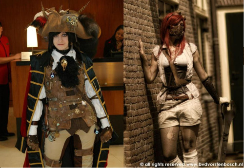 This miniatures company that's taken a great interest in steampunk is holding a campaign on indigogo. If you donate $10 or more you get steampunk figurines! They're based off of people's personal characters from around the world including the two in the photograph! Visit the campaign here!