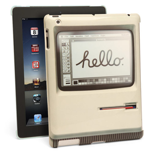 Party like it's 1984. Source: ThinkGeek iPad Macintosh Case