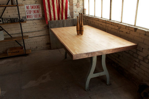 Reclaimed Bowling Lane Dining Table - get it here.