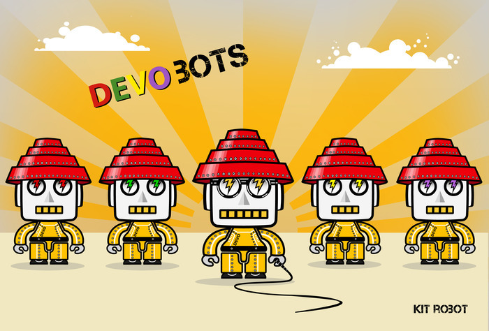 Our Project of the Day today is hard to beat: an app that lets you build DEVO-inspired robots, then build music by drawing from a library of unreleased beats and sounds from the band themselves. Pretty freakin' cool.
