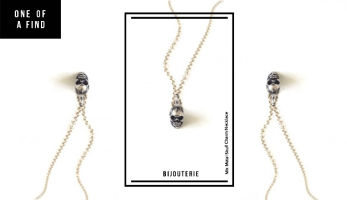 ONE OF A FIND — BIJOUTERIE Mix Metal Skull Charm Necklace