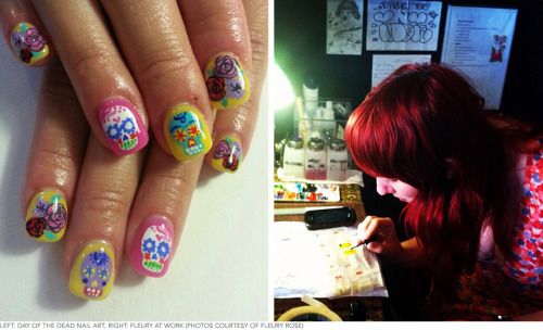 Bad Ass Nails for the People: Check out our interview with nail artist Fleury Rose!