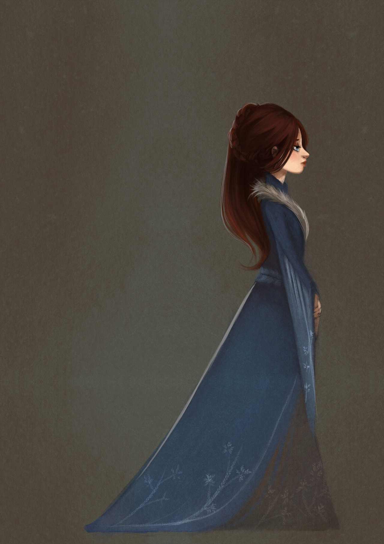 happysab:  // Sansa // Been struggling for the past few weeks, job searching is depressing. Anyway, following slowly with Game of Throne series. Here's a quick Sansa. Others : Arya / Daenerys / Cersei   wow, so elegant and graceful