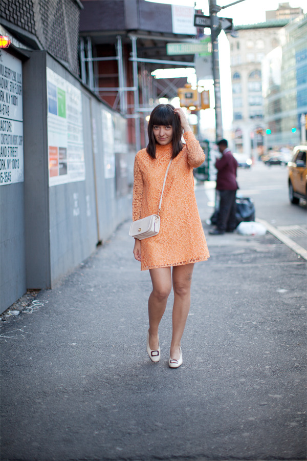channeling a creamsicle in my latest outfit post. you can  click here for more photos and outfit details!