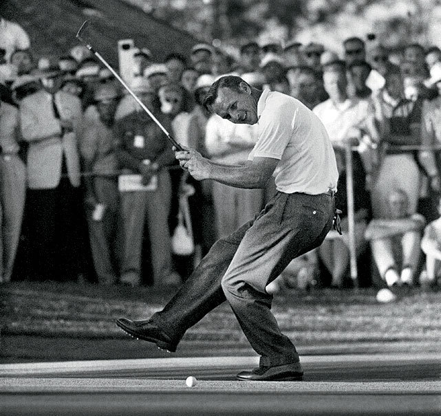 Happy 83rd birthday Arnold Palmer. In this photo, the legendary golfer celebrates after putting during the 1960 U.S. Open. (John G. Zimmerman) GALLERY: Arnold Palmer's SI covers | Arnold Palmer Through The Years