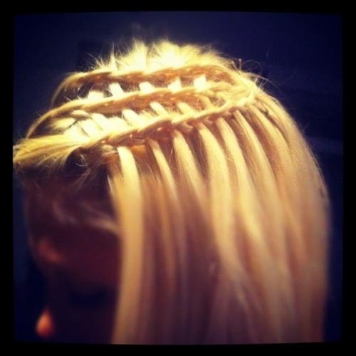 Woven waterfall braid by Sheena B.!
