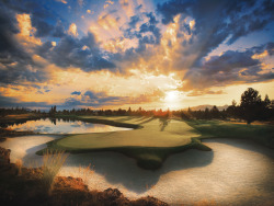 jetsetterphoto:  A sunset that will make you want a later tee time: Oregon