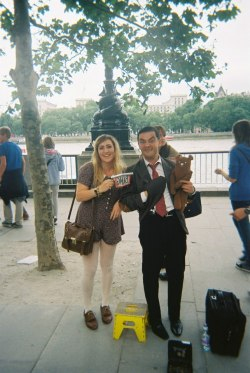 conradlangley:  BEAN!  me and mr bean!