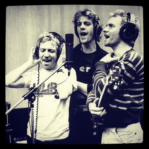 Here are #ThePolice recording at #Wisseloord Studios in the early 1980s. Head to RollingStone.com to see what Herb Alpert and Jerry Moss said about The Police's album 'Synchronicity' in our gallery of A&M Records' greatest hits. Photo: Danny Quatrochi (Taken with Instagram)