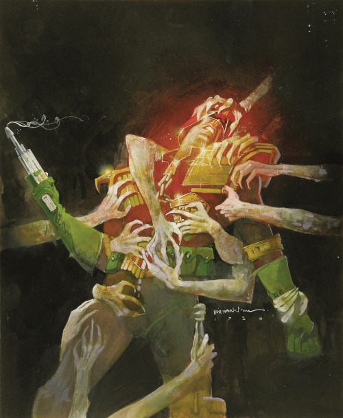 brianmichaelbendis:  Judge Dredd by Bill Sienkiewicz