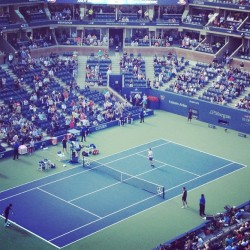 #artofthedot at the finals (Taken with Instagram at Arthur Ashe Stadium - USTA Billie Jean King National Tennis Center)