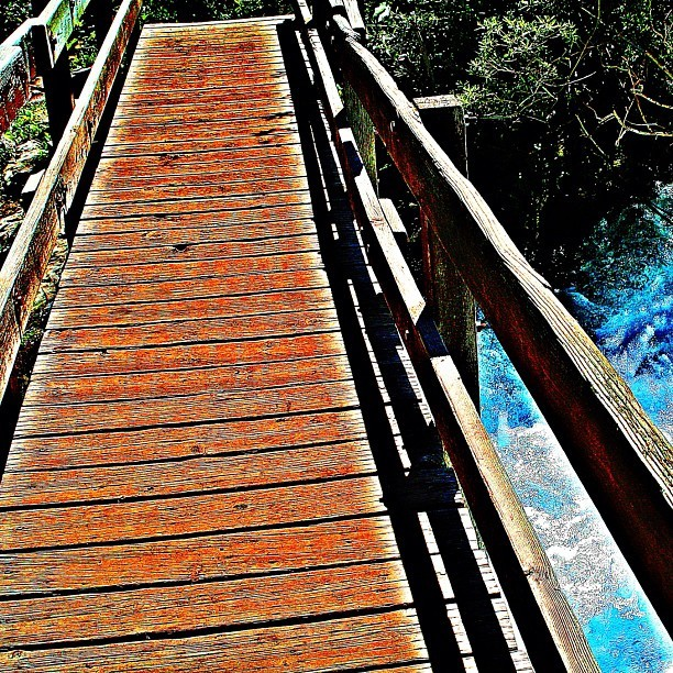 Wooden foot bridge in Aspen, Colorado #bridge #footbridge #travel #hiking #family #aspen #colorado #knox #knoxkeith  (Taken with Instagram)