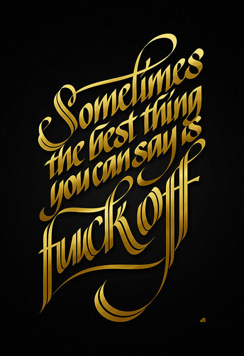 visualgraphic:  Sometimes the best thing to say