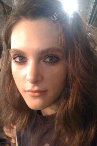 Kristy (IMG) looking radiant backstage at the Philip Lim show!