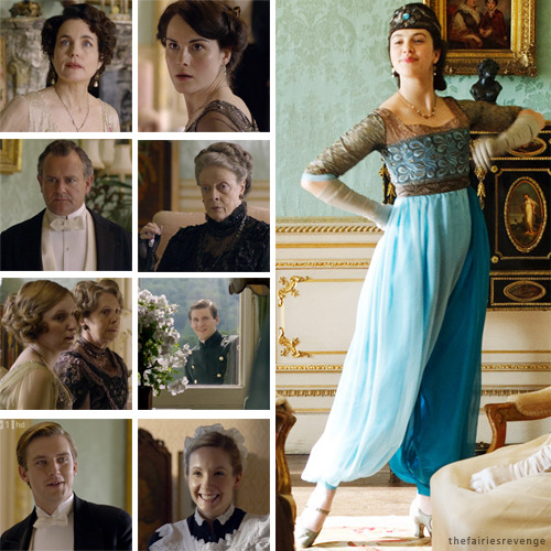 thefairiesrevenge:  Day 14 - Favourite time period from Downton Abbey? 'Round about Episode 4, roughly 1913, when Lady Sybil proves that women indeed have two legs. Another series of priceless reactions from all the faces.