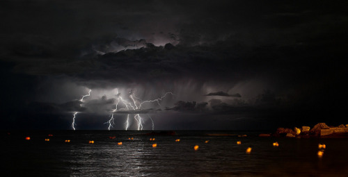 tropicalism:  Offshore lightning storm wide vision by Francesco Magoga Photography on Flickr.  love it