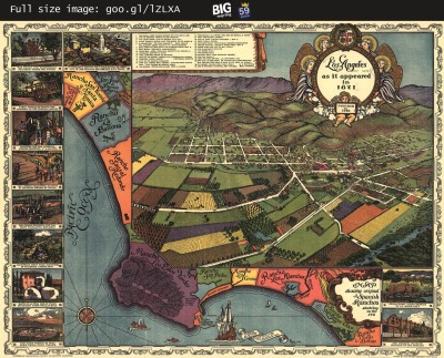 Map: Los Angeles as it Appeared in 1871 originally posted to the BIG Map Blog.