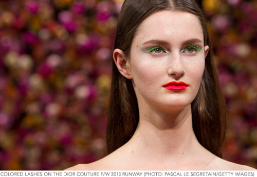 Colored mascara took over the spring and summer runways, but that doesn't mean you have to drop the Technicolor wand come fall. Check out the right colored mascara for your lashes!