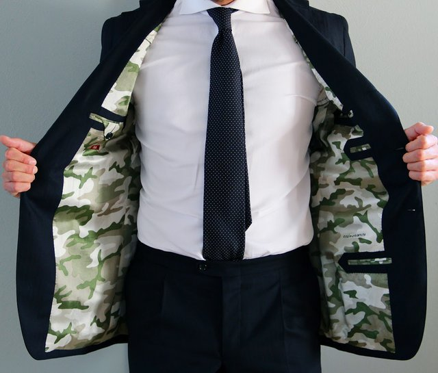 (via Fancy - Camouflage Lined Blazer)