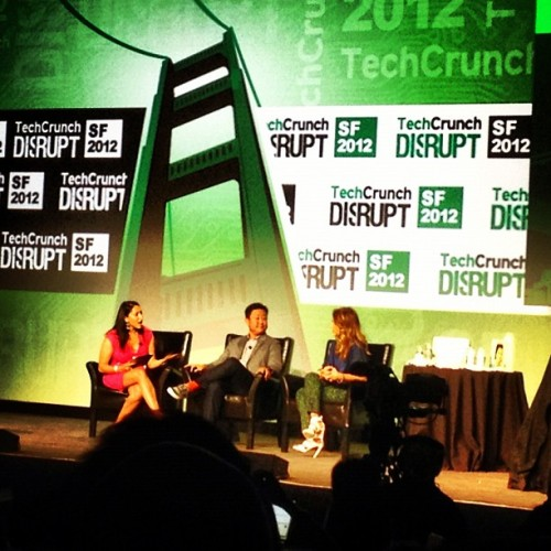 Listening to @jessicaalba  of the honest company at #tcdisrupt #techcrunch12 (Taken with Instagram at TechCrunch Disrupt SF 2012)