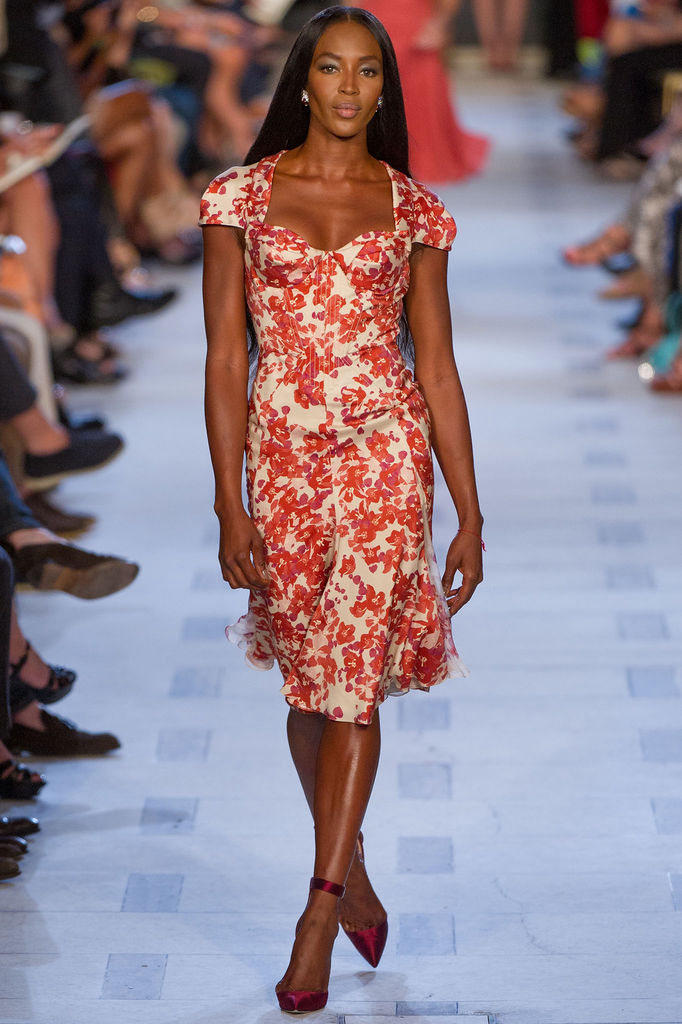 Naomi Campbell strutting her stuff while opening the Zac Posen Spring 2013 show yesterday.   -JK [image via Style.com]