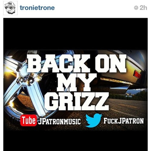 "Good friend @tronietrone just released his new video ""Back on my grizz"" we support him and his music as much as he supports our brand. Its all fam! Lookin ill homie #alwayshustling #thegreaterthan #DElifestyle #desc #tgt #theparafloydco  (Taken with Instagram)"