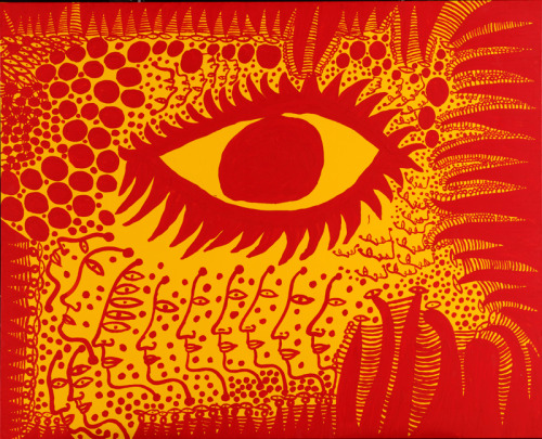 On September 13, join us for Obsess, Create, and Repeat, a Yayoi Kusama-inspired panel discussion featuring artist Janine Antoni. Yayoi Kusama (b. 1929), I Want to Live Honestly, Like the Eye in the Picture, 2009. Acrylic on canvas, 51 5/16 × 63 3/4 in. (130.3 × 162 cm). Collection of the artist. © Yayoi Kusama. Image courtesy Yayoi Kusama Studio Inc.; Ota Fine Arts, Tokyo; Victoria Miro Gallery, London