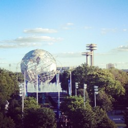 #artofthedot globe  (Taken with Instagram at 2012 US Open Tennis Championships)