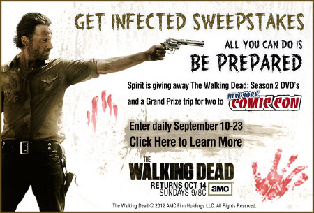Spirit Halloween Get Infected Sweepstakes.