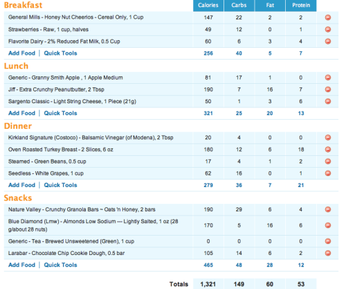 Intake 9/10/12Day 2 of my 30 day binge-free challenge! So far so good! I think I did really well today Exercise-Couch 2 5k Week 3 Day 3 (30 minutes)The Core Challenge