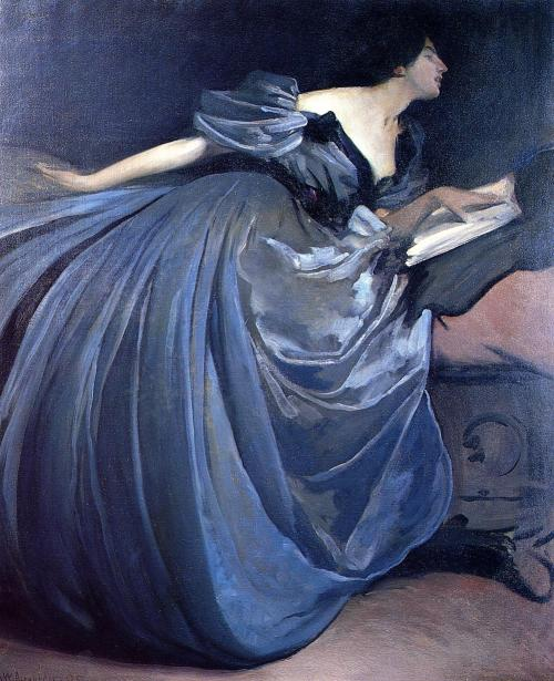 lyghtmylife:  John White Alexander [American Symbolist Painter, 1856-1915] Althea, 1895 oil on canvas Private collection