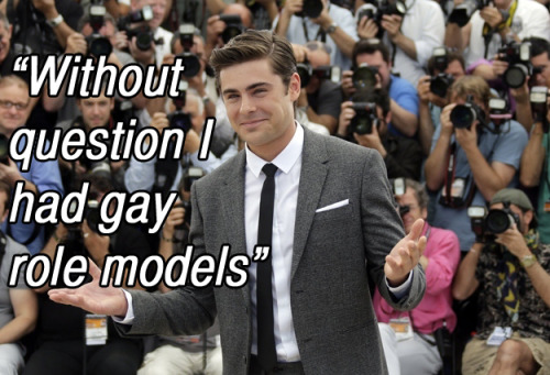 Zac Efron talks about his love for the gay community in a new interview with the Advocate.