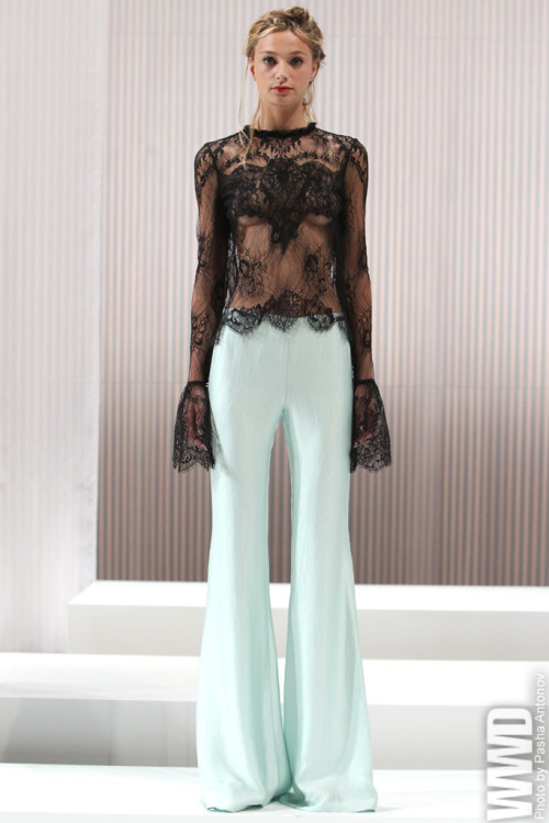 "Wes Gordon RTW Spring 2013 ""High Priestess"" is how the designer described his woman this season and he had a reason for the darker, more sinister turn.  For More See all of WWD.com's RTW Spring 2013 Runway Coverage"