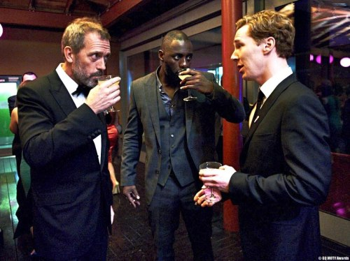 awesomepeoplehangingouttogether:  Hugh Laurie, Idris Elba and Benedict Cumberbatch  No words.
