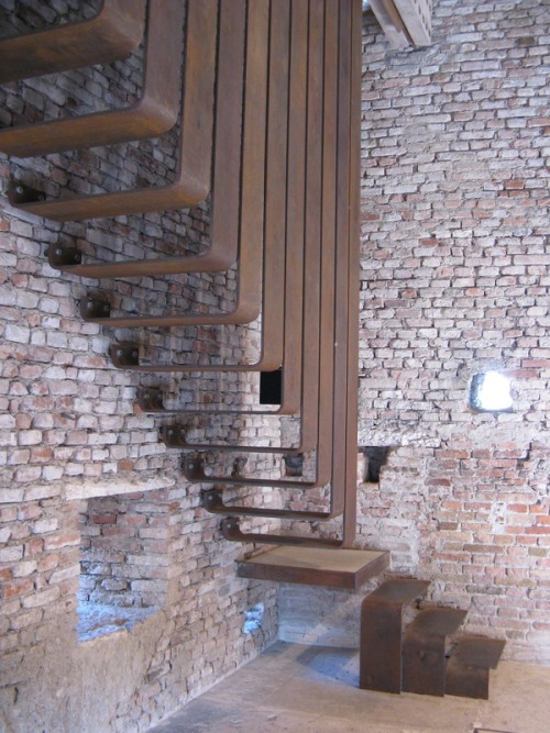 justthedesign:  Stairs by Carlo Scarpa