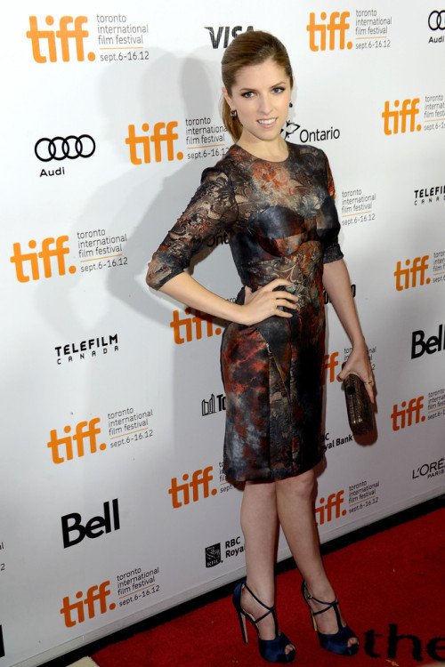Anna Kendrick in Mulberry at the Toronto Film Festival premiere for The Company You Keep on September 9, 2012. Brian Atwood sandals.