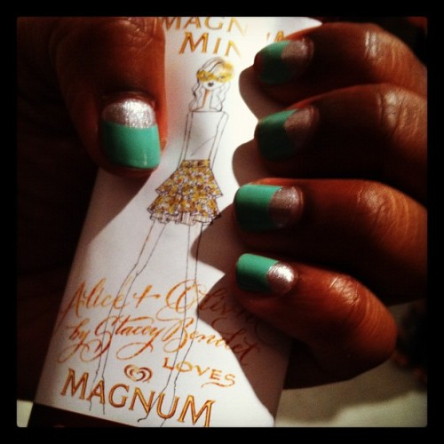 Like this MAGNUM-inspired #NYFW Manicure? #MagnumScene  (Taken with Instagram)
