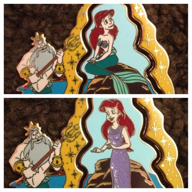 lostdiademm:  My awesome little mermaid pin came today!