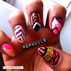 nailpolishdistraction:  popnailspopmakeup:  Mix & Match…  Nice!