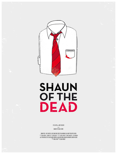 thekhooll:  Shaun Of the Dead Created by The Canadian studio MoxyCreative based in Toronto,  designed in a minimal style and proposing a vintage men look.   You've got red on you…