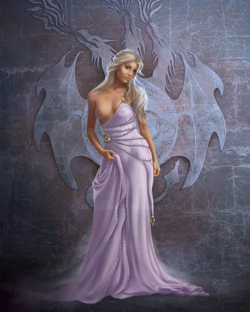 makebelievenotwar:  What can I say, Dany's my favorite. I'm surprised HBO didn't put her in a Qartheen gown - everyone knows how much they love boobies.